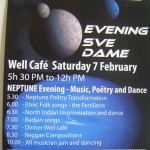 Neptune on Saturday 7th at Sve Dam from 5.30pm onward