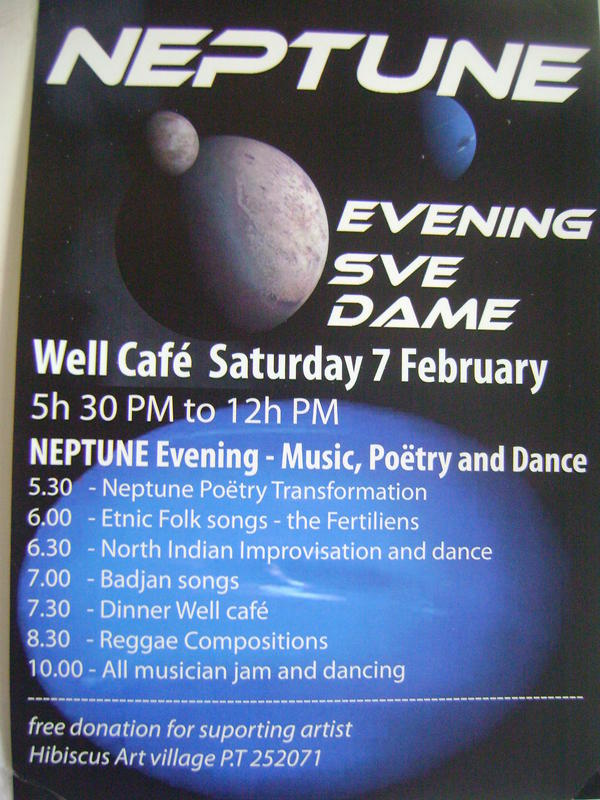 Photographer:Alma   Neptune on Saturday 7th at Sve Dam from 5.30pm onward