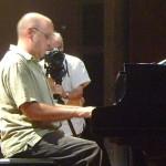 Hartmut on piano, Rakhal behind the camera