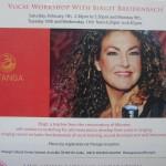 Birgit  Breidenbach vocal workshop