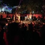 Anna Taj band and dancing audience