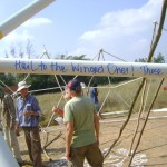 erecting geodesic dome structure of Sankalpa