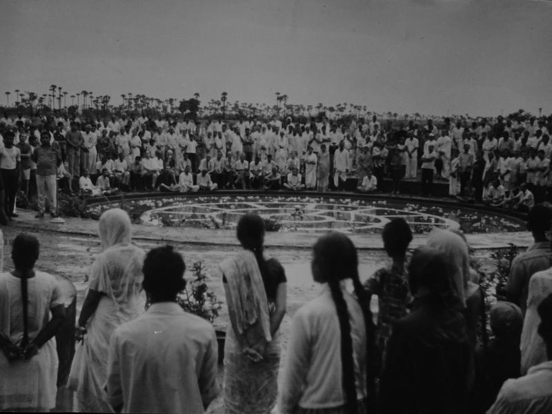 Photographer:Auroville Archives | Inauguration at the Peace area 1968
