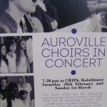 Auroivlle Choirs(youth and adult) at CRIPA on 28th and 1st of MArch at 7.30pm