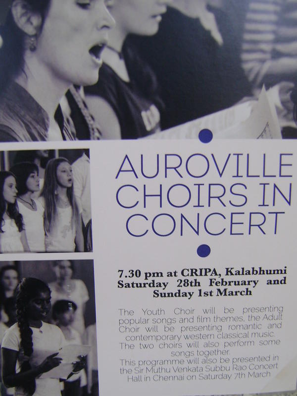 Photographer:Amadea | Auroivlle Choirs(youth and adult) at CRIPA on 28th and 1st of MArch at 7.30pm