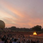 Amphitheater in Matrimandir with Dawnfire on 28th