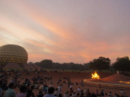 Photographer:web | Amphitheater in Matrimandir with Dawnfire on 28th