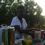 Mary serving  Ethiopian Coffee