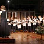 Nuria conducting the Auroville Adult Choir