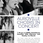 The Auroville Youth Choir & Adult Choir performed romantic & contemporary western classical music
