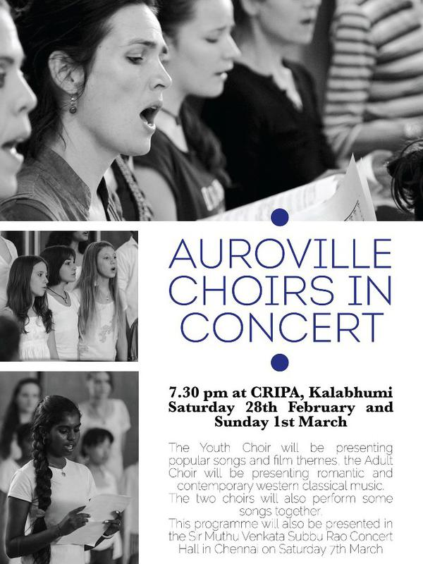 Photographer:Courtesy Cripa | The Auroville Youth Choir & Adult Choir performed romantic & contemporary western classical music