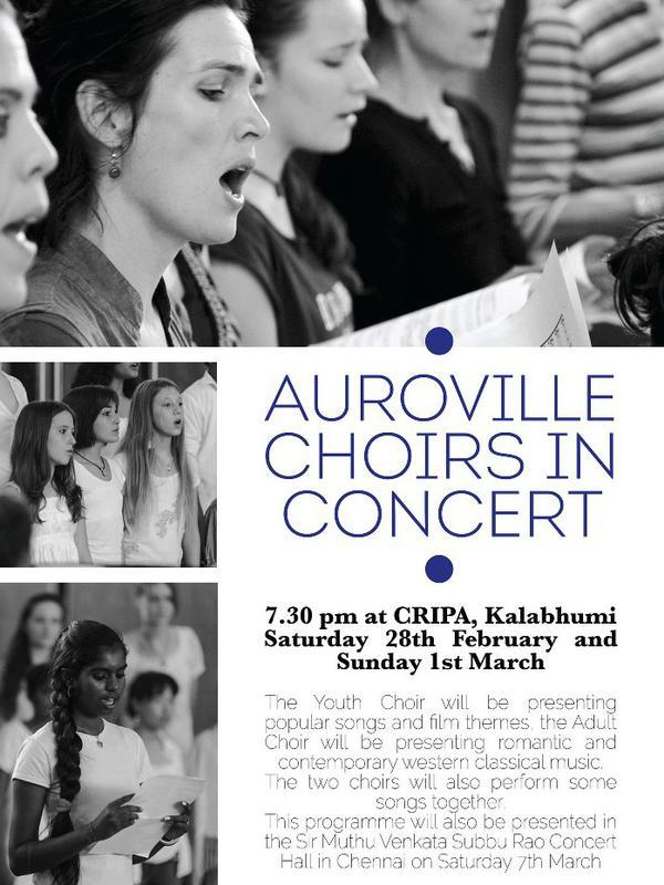 Photographer:Courtesy Cripa | The Auroville Youth Choir & Adult Choir performed romantic & contemporary western classical music