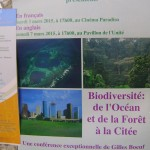 talk Biodiversity : from the ocean and the forest to the city