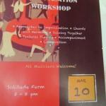 Music Improvisation Worksjhop, Solitude Farm,Tuesday