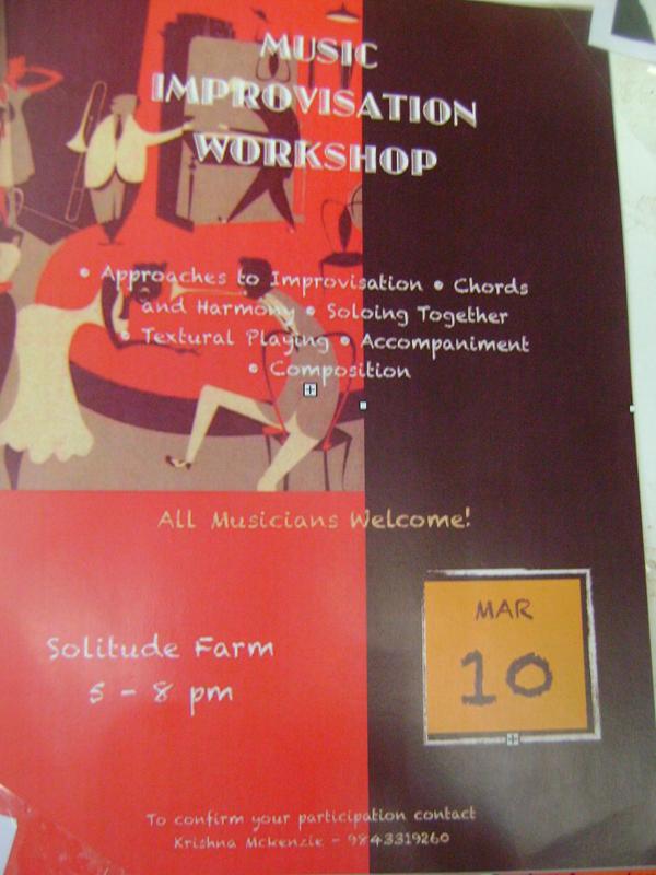 Photographer:Barbara   Music Improvisation Worksjhop, Solitude Farm,Tuesday