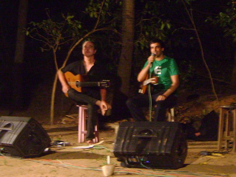 Photographer:Shirin | Mathias Muller and Nishad Pandey on classical guitars