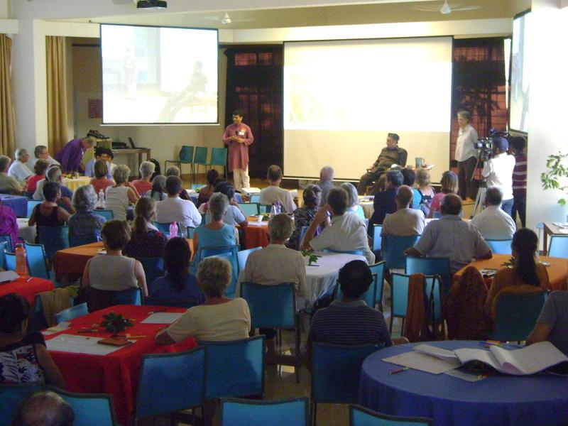 Photographer:Tabitha | Plenary of Auroville Retreat, visit of Dr. Karan Singh