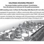 Presentation Kalpana Housing Project today at 4.30pm at SAIIER
