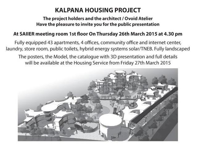 Photographer:Amadea   Presentation Kalpana Housing Project today at 4.30pm at SAIIER