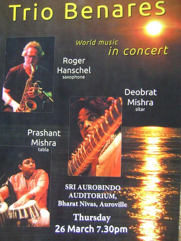 Photographer:Amadea   Trio Benares tonight at 7.30pm at Bharat Nivas