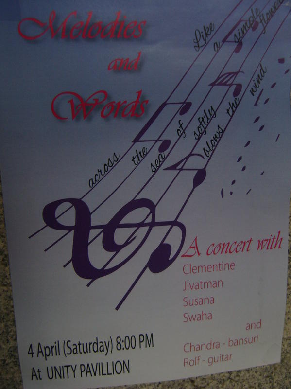 Photographer:Barbara | Melodies and Words, concert on 4th at 8pm at Unity Pavilion, IZ