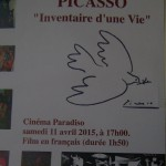 Picasso - Inventaire d'une Vie  11th of April at 5pm MMC