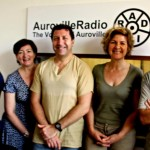 From left: Renu, Anne, Eric, Christine and Wazo at the radio