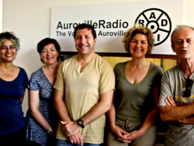 Photographer:Roland | From left: Renu, Anne, Eric, Christine and Wazo at the radio
