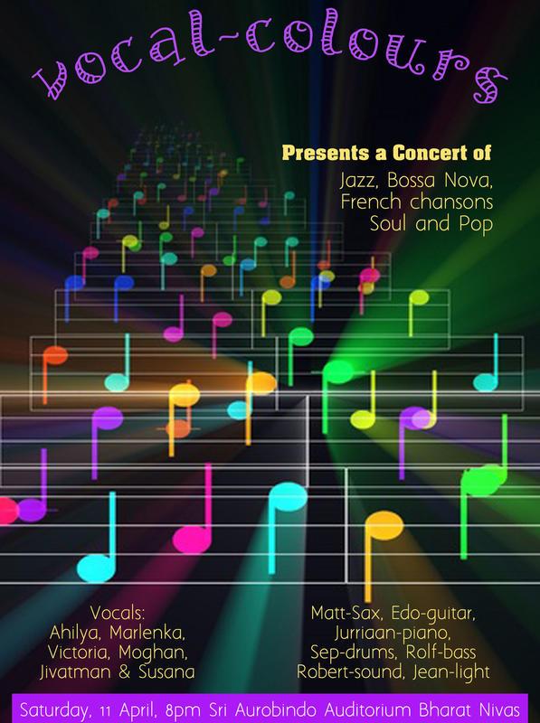 Photographer:web | Vocal Colours at Sri Aurobindo Auditorium on 11th at 8pm