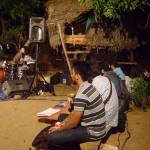 Karina Colins drums, Swarnabhoomi students