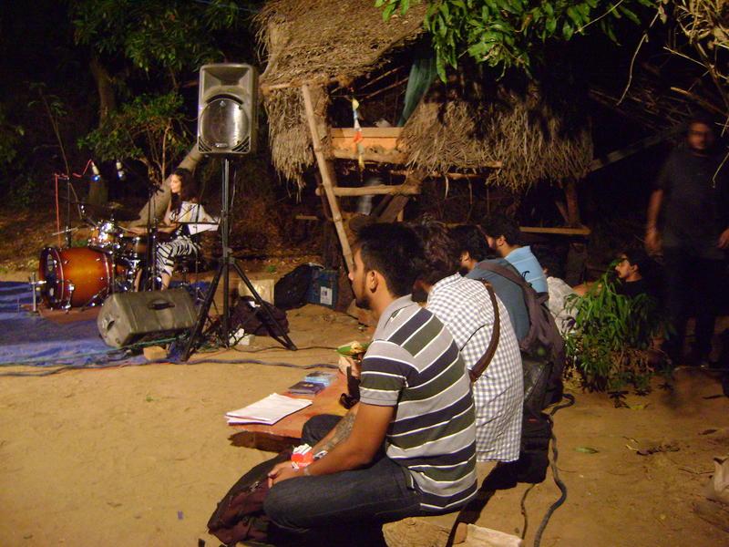 Photographer:Tabitha   Karina Colins drums, Swarnabhoomi students