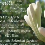 Nirmiti project land art at Botanical Gardens  18th at 2pm