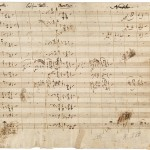 Music by Mozart in his own handwriting