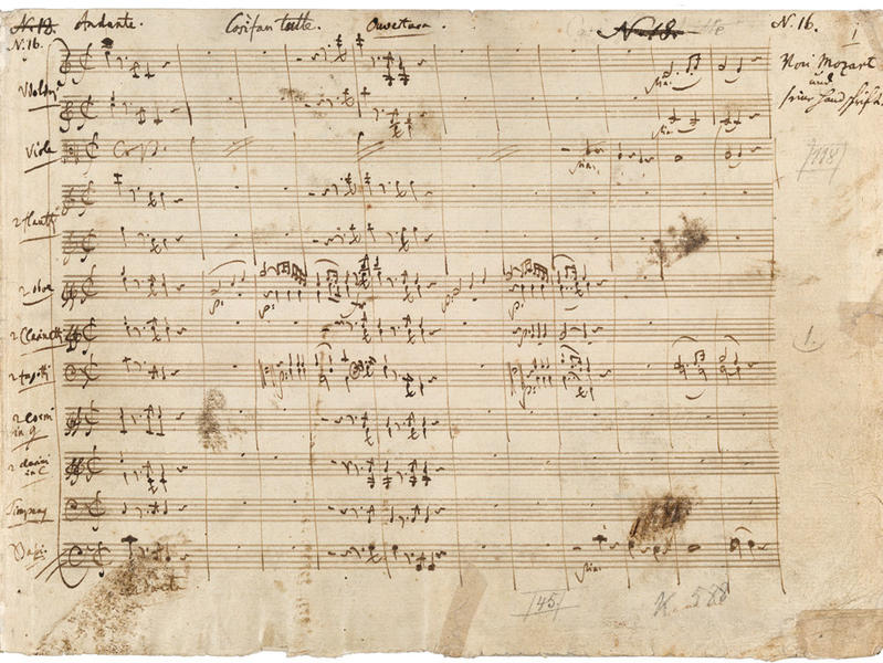 Photographer:prestoclassical.co.uk | Music by Mozart in his own handwriting