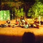 Happy campres Luca, Aloe, Eurydice and Anton were visited by a masken