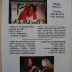 Performance  A Life in Her Day, CRIPA 28th at 7.30pm