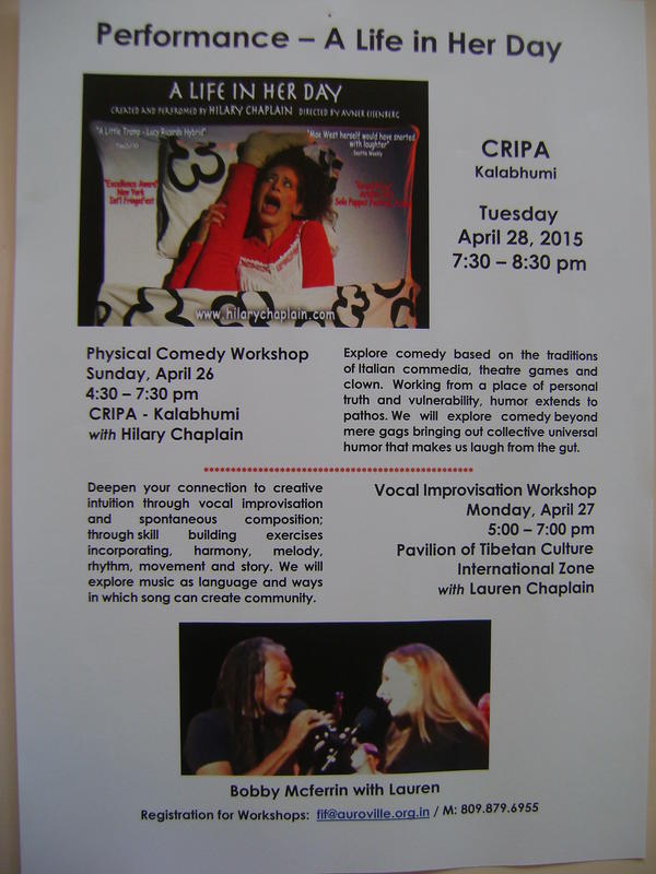 Photographer:Barbara | Performance  A Life in Her Day, CRIPA 28th at 7.30pm