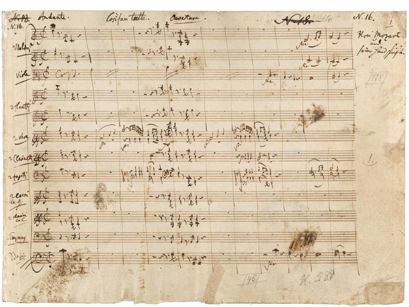Photographer:web | Mozart's notes