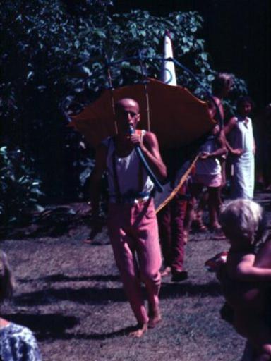 Photographer:Auroville Archives   Wazo around 1985-