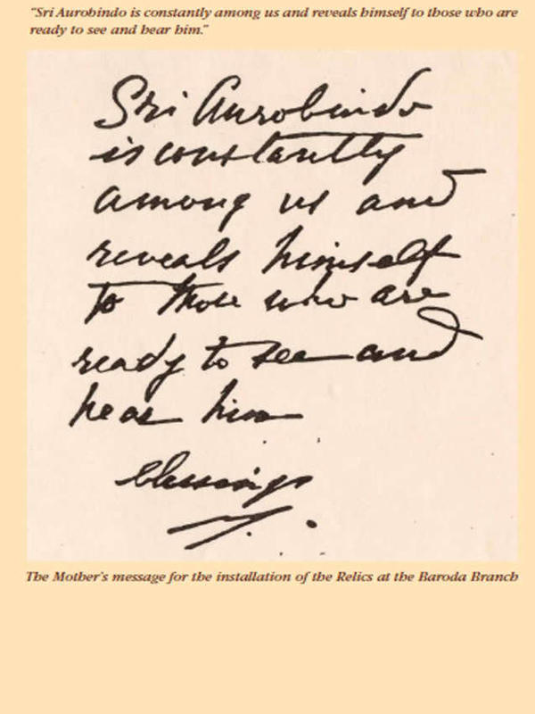 Photographer:http://savitrieradevotees.blogspot.in/2011/07/sri-aurobindo-is-constantly-among-us_04.html   Mother's message 1972