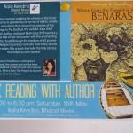 16th at 5.30pm at Kala Kendra, Bharat Nvias, Pavilion of India, International Zone book reading