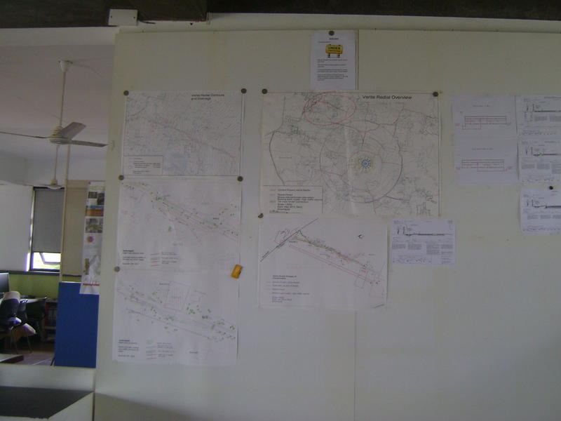 Photographer:Barbara | Presented maps and drawings of road in Industrial Zone