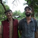 Aryadeep and Felix - note the grey skies in May!
