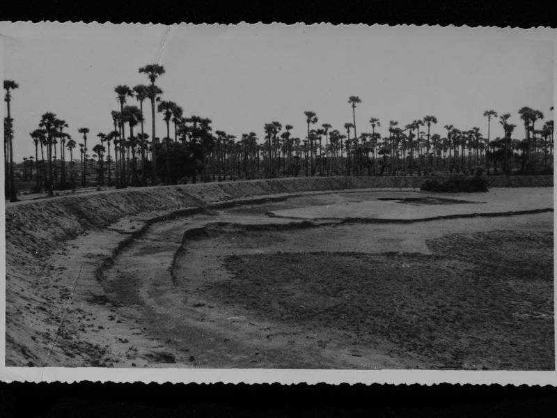 Photographer:Auroville Archives | Greenbelt Water Catchement construction