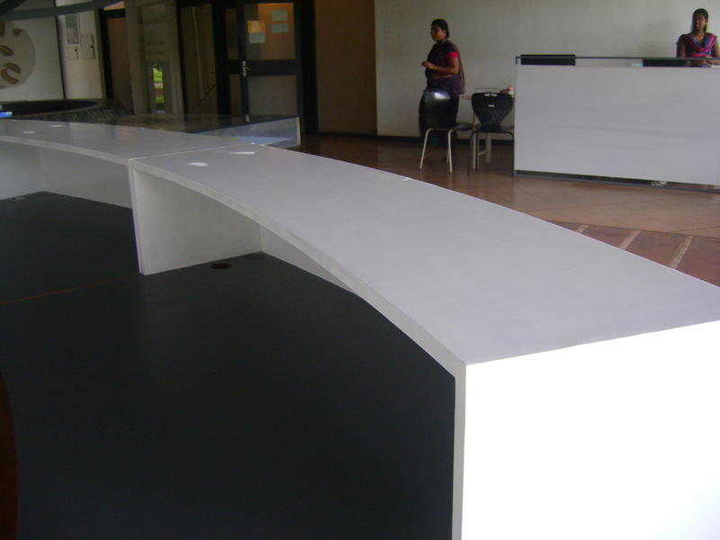 Photographer:Martha | new reception desk in Town Hall , work in progress