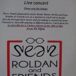 Sean Roladn&Friends at VC tomorrow at 5.30pm