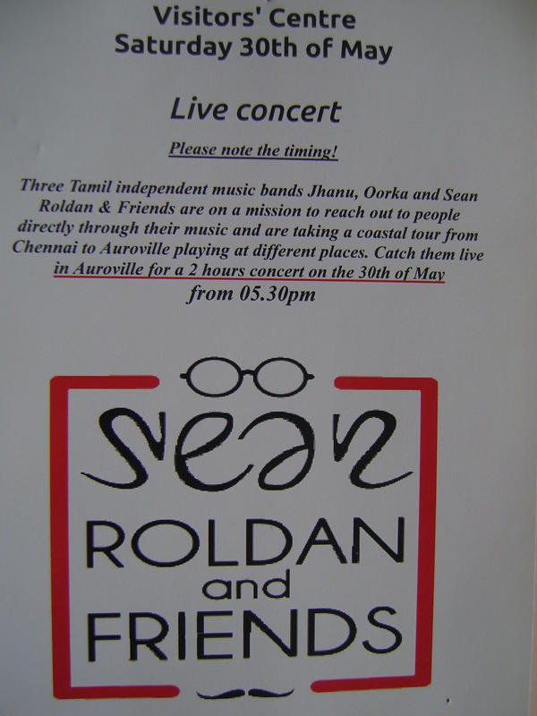 Photographer:web | Sean Roladn&Friends at VC tomorrow at 5.30pm
