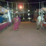 street stalls at festival ground
