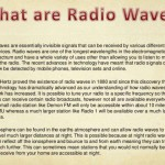 What are radio waves