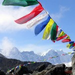 Tibetan praying flags